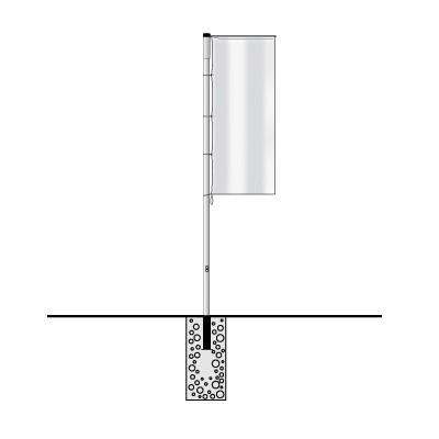 STORM Aluminium Fahnemast / Ausleger
