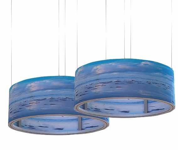 Gebogener Aluminium-Kreisring mit Textilbespannung
