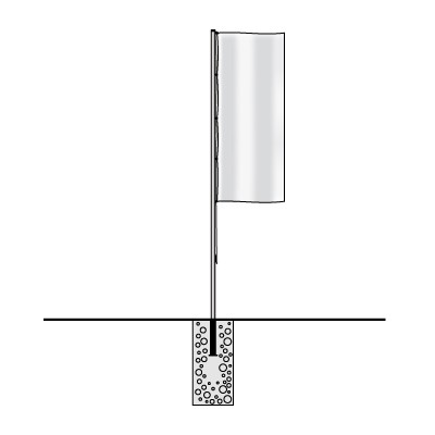 Aluminium - Fahnenmasten