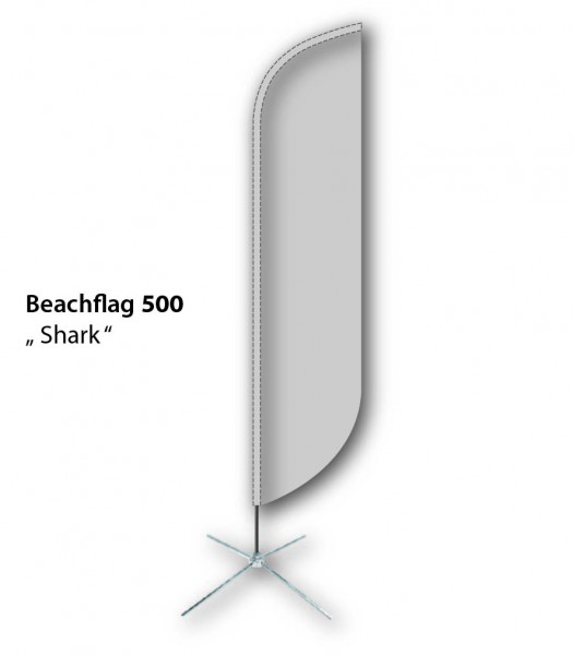 Beachflag 500 Shark