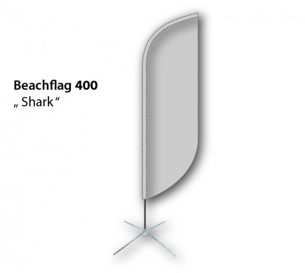 Beachflag 350 Shark