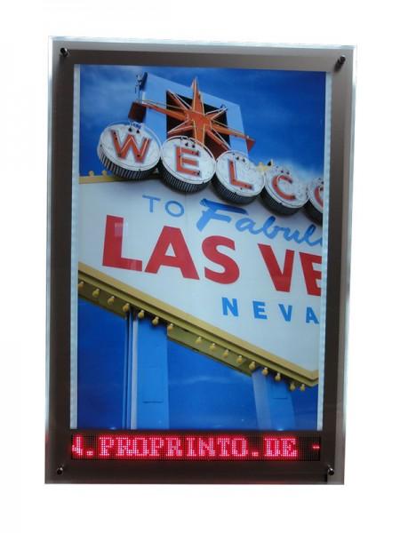 LED Acryl-Frame mit Laufschrift