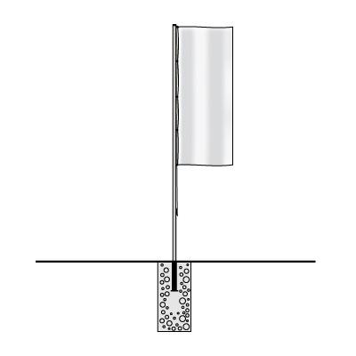 Bodenhülse / Bodenhalterung 75/100 mm