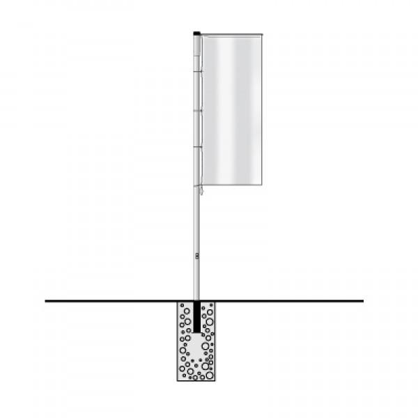 aluminium fahnenmasten mit ausleger hissfahnen auslegerfahnen fahnen proprinto. Black Bedroom Furniture Sets. Home Design Ideas
